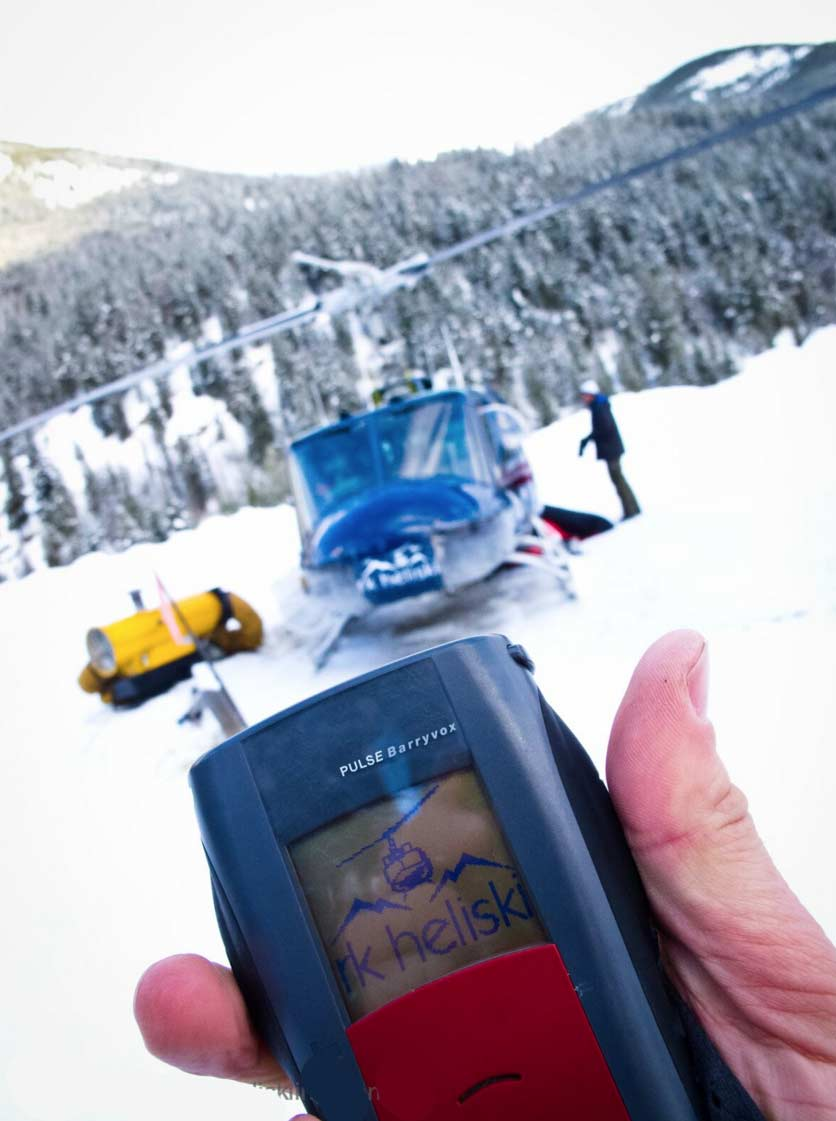 heliskiing guest avalanche tranceiver